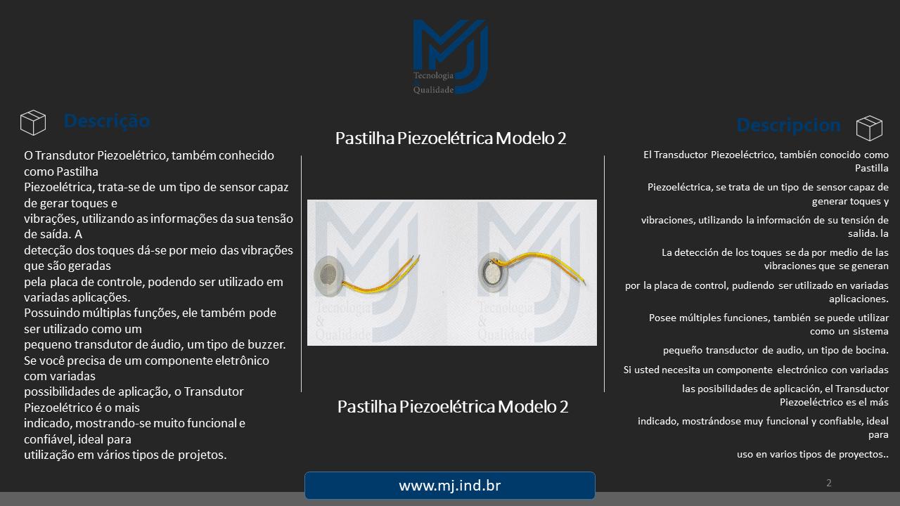 Pastilha Piezoelétrica Modelo 2