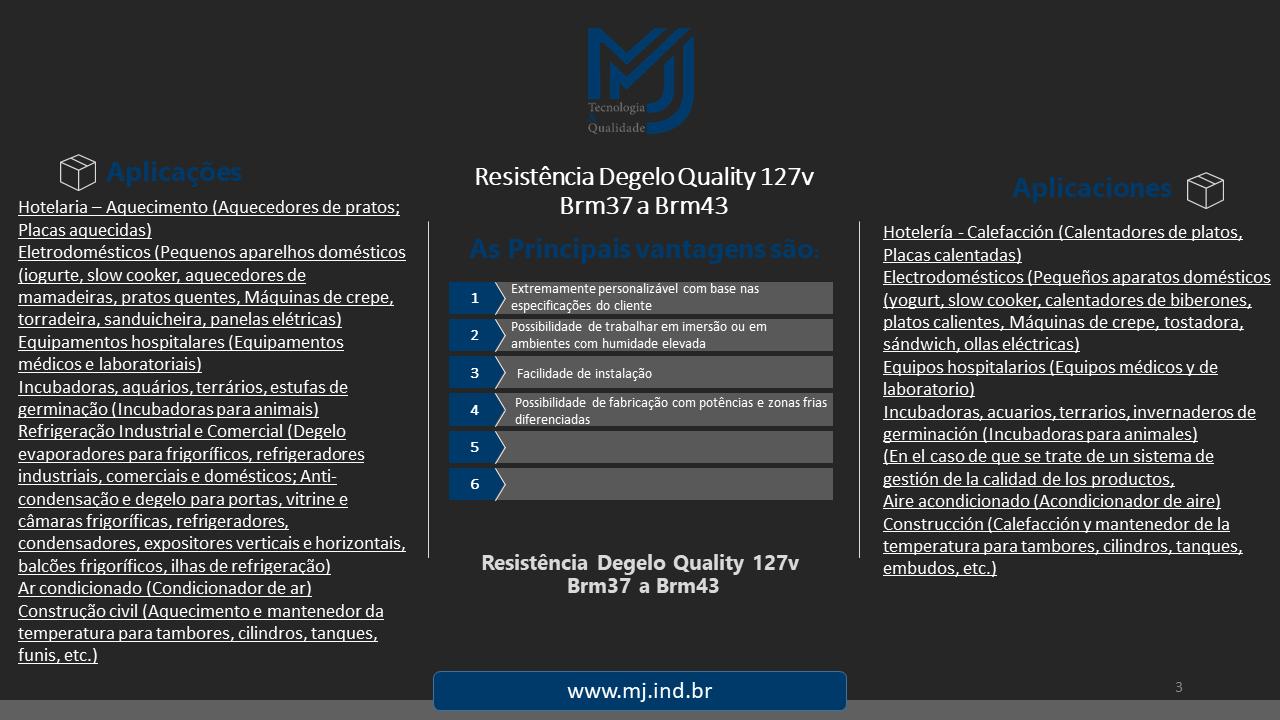 Resistência Degelo Quality 127v Brm37 a Brm43