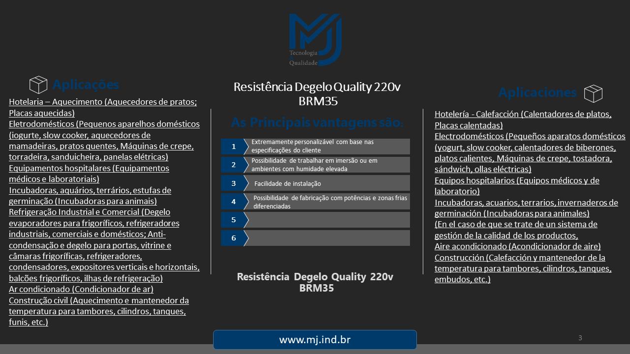 Resistência Degelo Quality 220v BRM35