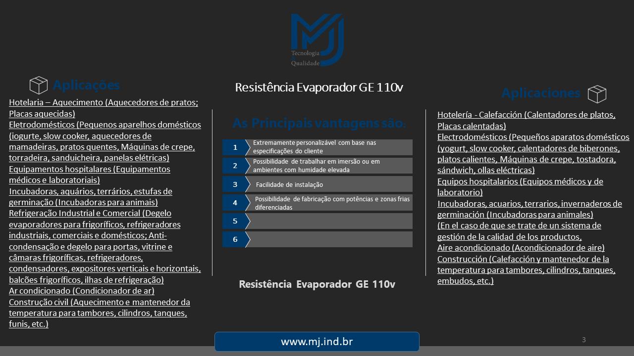 Resistência Evaporador GE 110v
