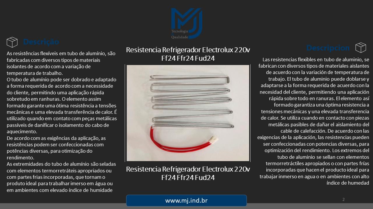 Resistência Refrigerador Electrolux 220v Ff24 Ffr24 Fud24